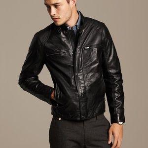 Banana Republic Moto Lamb leather jacket XL